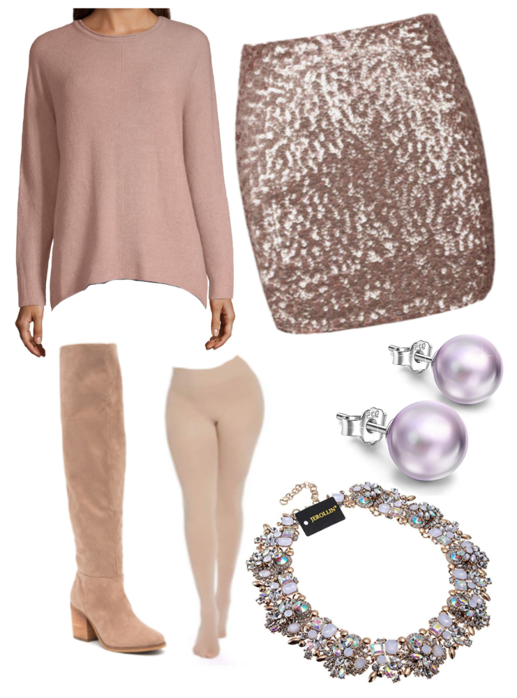 Pink Sequin Outfit